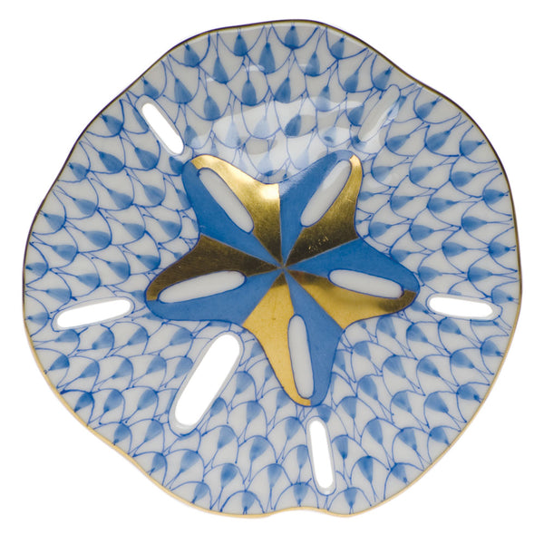 Herend Sand Dollar, Blue