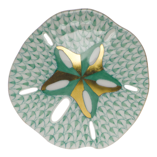 Herend Sand Dollar, Green