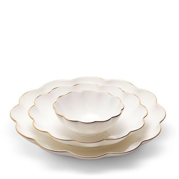 AERIN Scalloped Cream Ceramic Nesting Serving Dishes