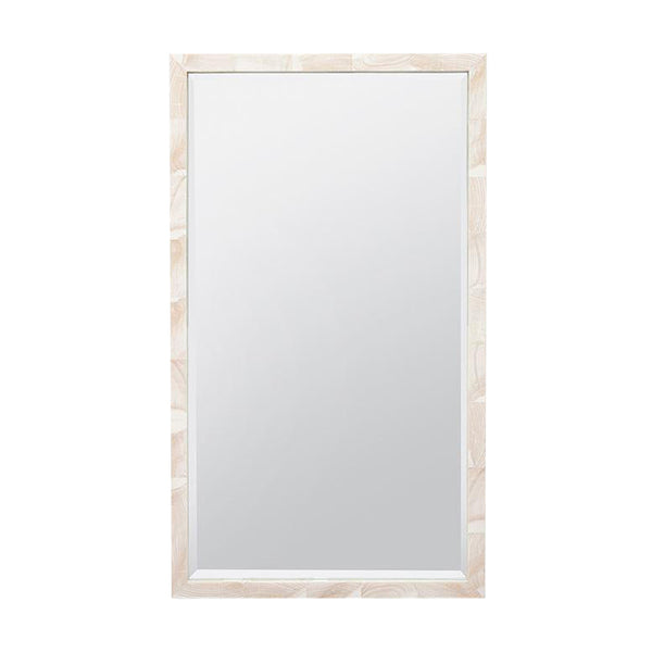 Sidney Natural Clamstone Mirror, Large