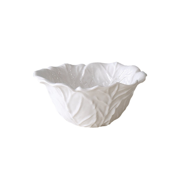 Vida Melamine Lettuce Bowl, Small White