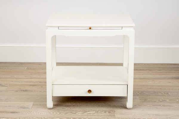 Sara Side Table in Dove White