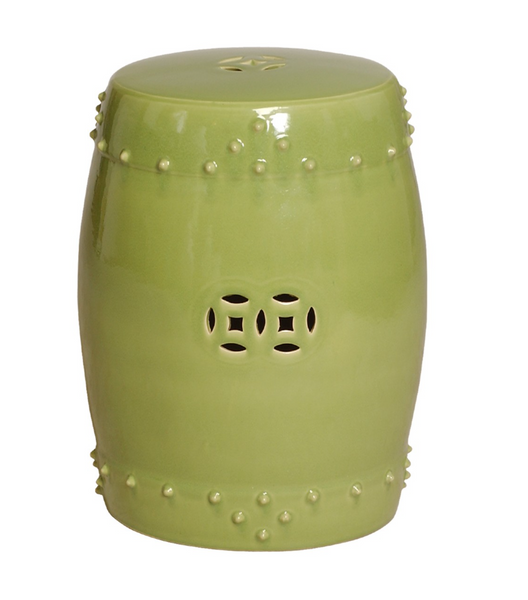 Drum Garden Stool, Lime