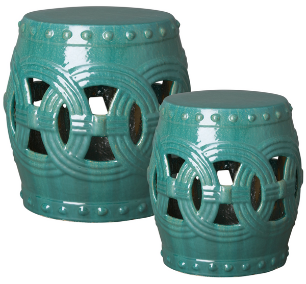 Large Eternity Garden Stool, Teal