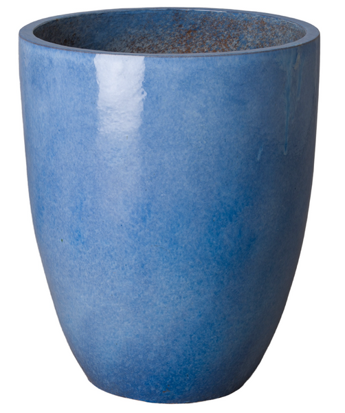 Large Tall Planter, Blue