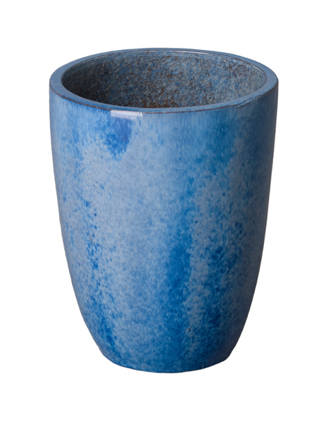 Small Tall Planter, Blue
