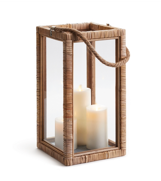 Nice Rattan Wrapped Lantern, Small