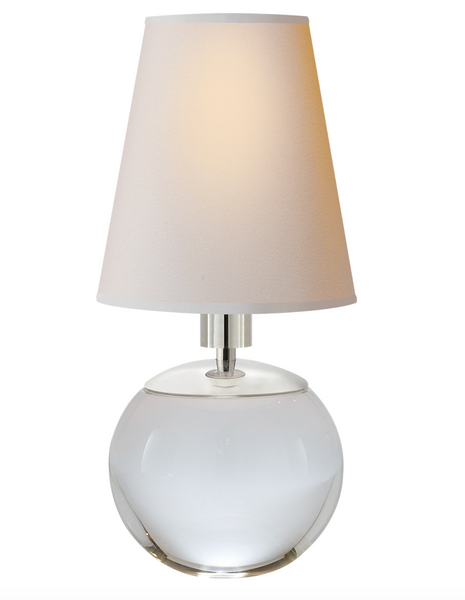 Terri Tiny Round Accent Lamp, Crystal