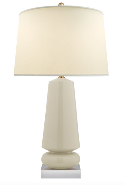 Parisienne Table Lamp, Coconut Porcelain