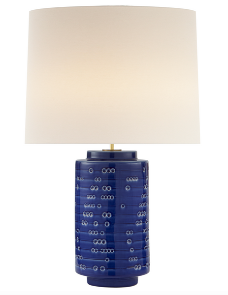 Darina Large Table Lamp, Pebbled Blue