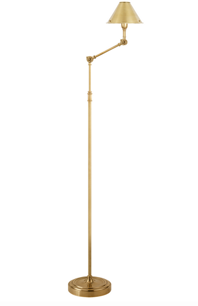 Anette Floor Lamp, Natural Brass