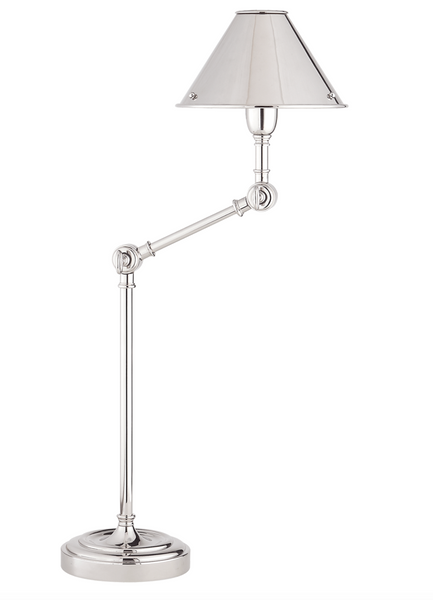 Anette Table Lamp, Polished Nickel