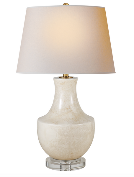 Chapman Arc Pot Table Lamp, Tea Stain Porcelain