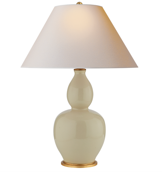 Yue Double Gourd Table Lamp, Coconut
