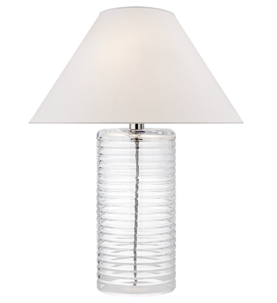 Metropolis Table Lamp, Clear Soda Glass