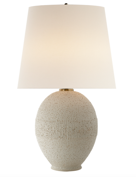 Toulon Table Lamp, Volcanic Ivory