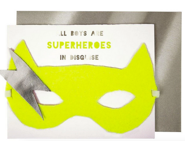 Birthday - Boy Superhero Card