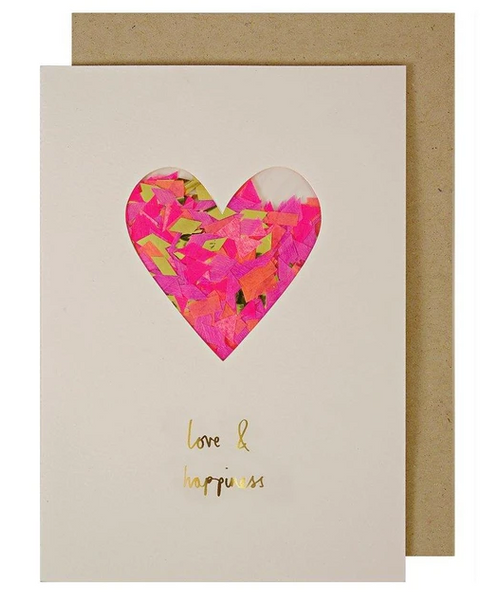 Love - Heart Confetti Shaker Card