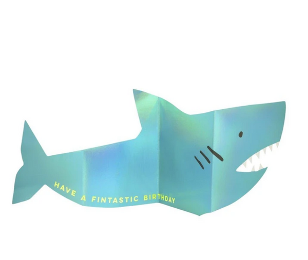 Birthday - Metallic Shark Concertina