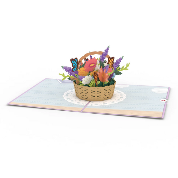 Pop Up Card, Flower Basket