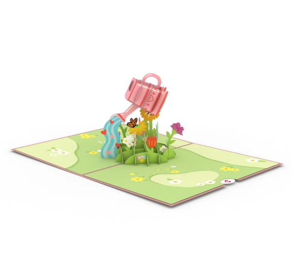 Pop Up Card, Watering Can