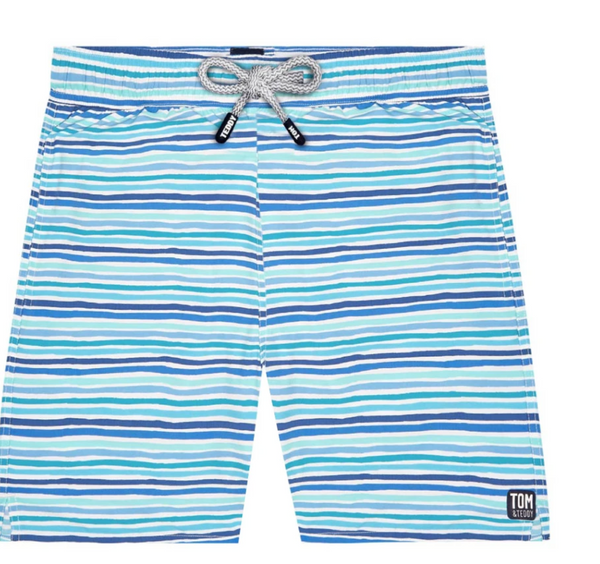 Tom & Teddy Men's Stripe Trunks
