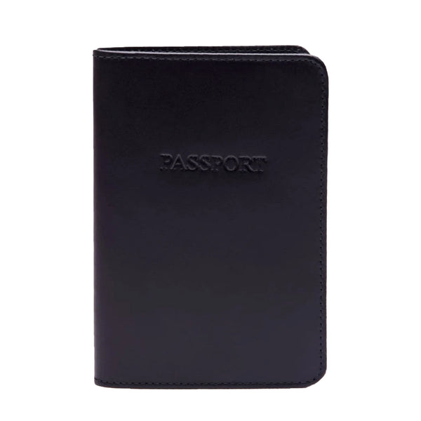 Ettinger Lifestyle Leather Passport Case, Navy