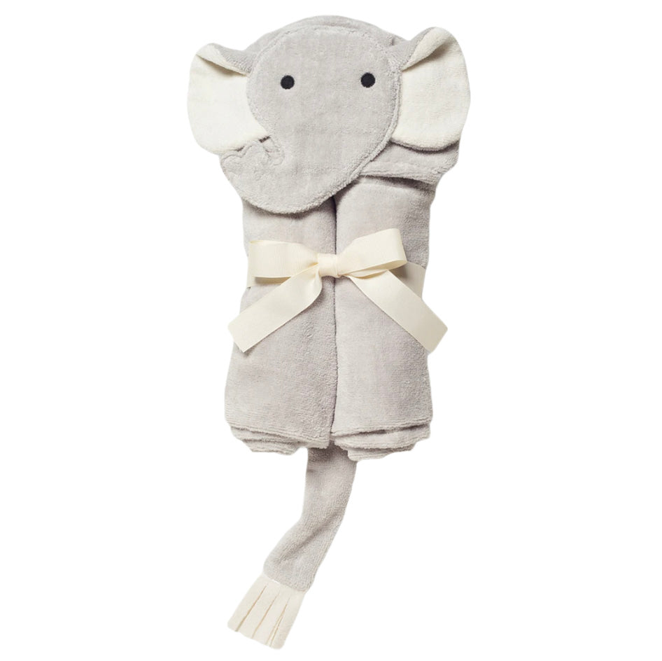 Elephant Hooded Bath Wrap