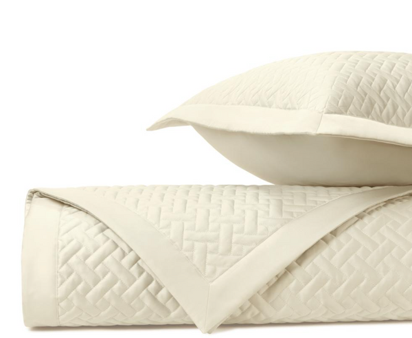 Basketweave Queen Sham, Ivory