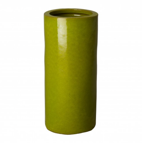 umbrella stand green glossy glaze