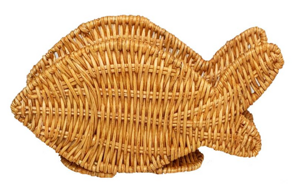 Fish in light honey napkin ring