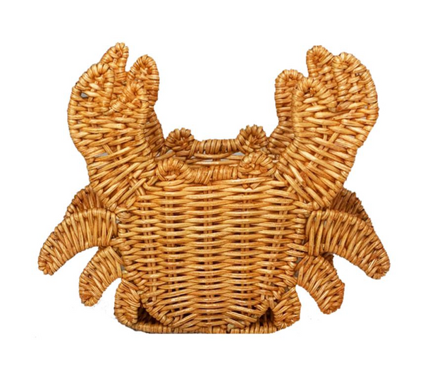 crab in light honey napkin ring