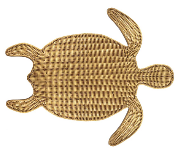 turtle in light honey placemat
