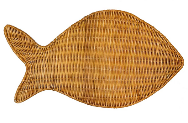 fish in natural placemat