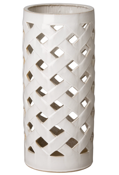 Criss Cross Umbrella Stand, White