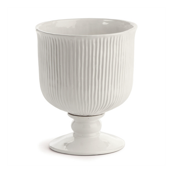 Sinclair Footed Urn in White