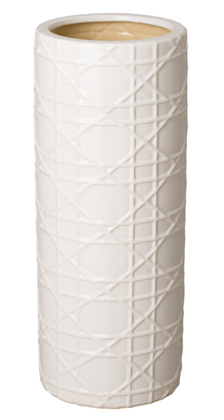 cane umbrella stand white