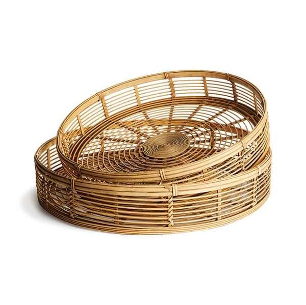 river bamboo round trays