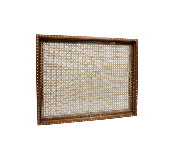 "BO Large Rectangular Cane Tray, 30"" x 24"""