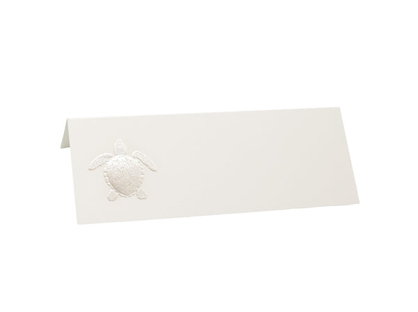 White Turtle Placecards