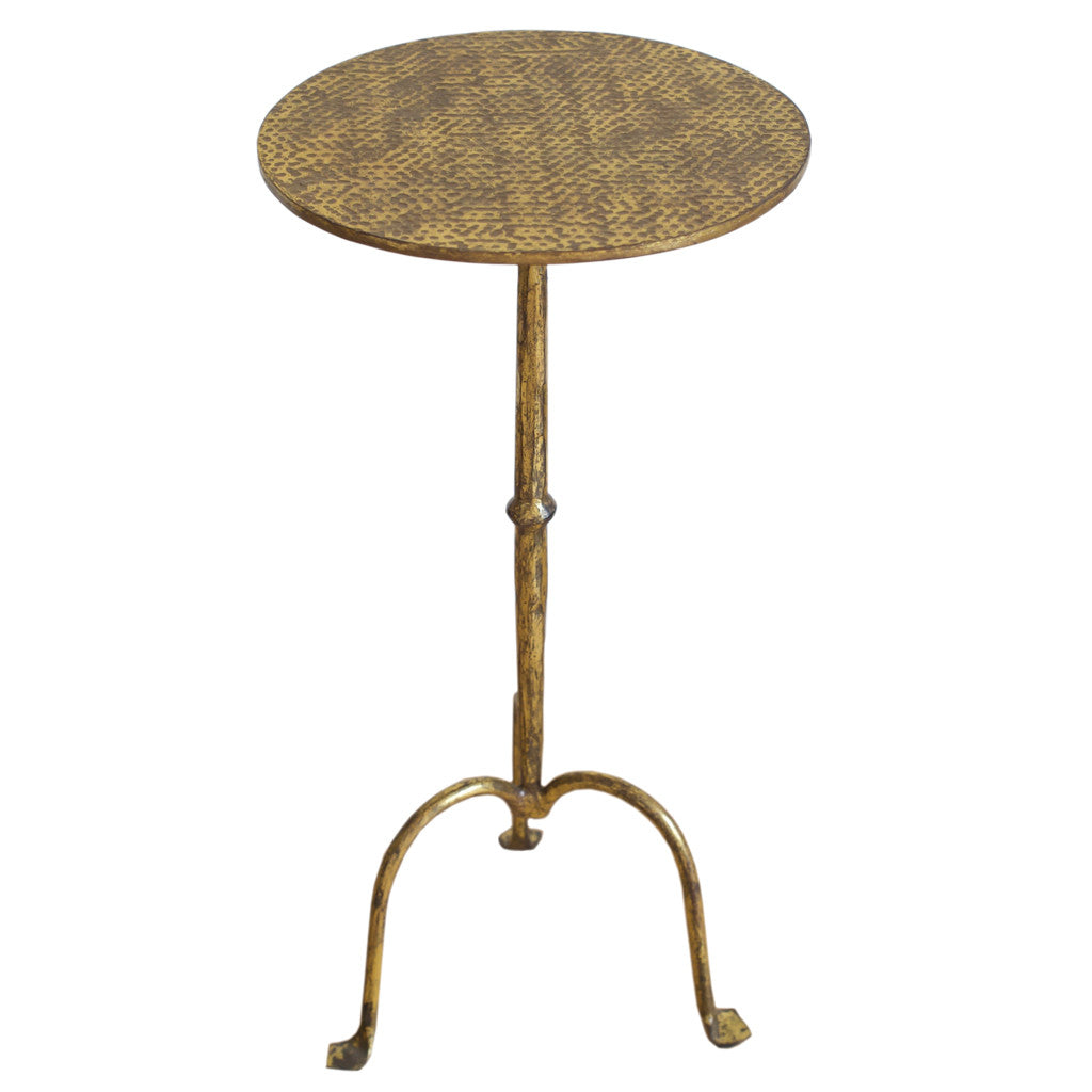 Hammered Gold Side Table
