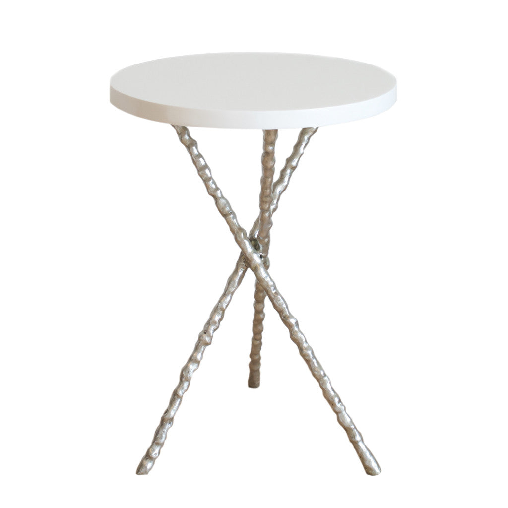 Incroyable Silver Branch Accent Table ...