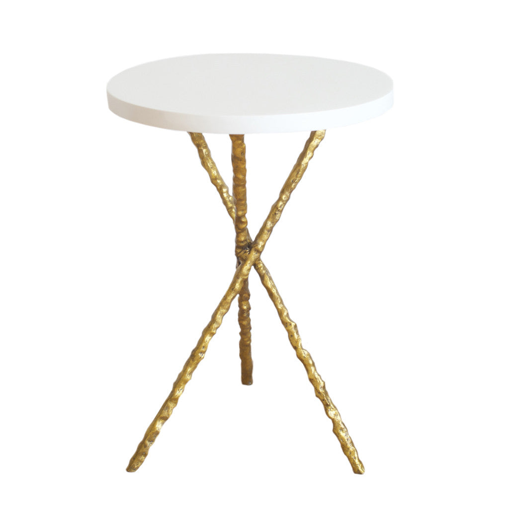 Gold Branch Accent Table