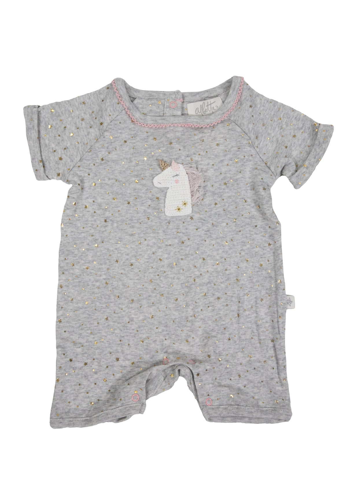 Albetta Sparkle Unicorn Short Sleeve Romper