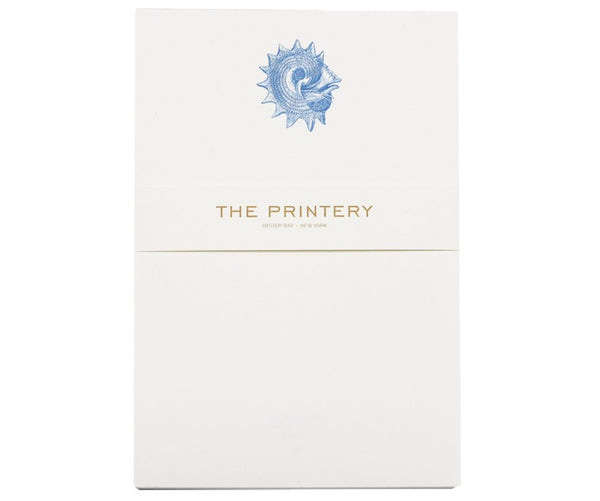 king crown in blue notepad