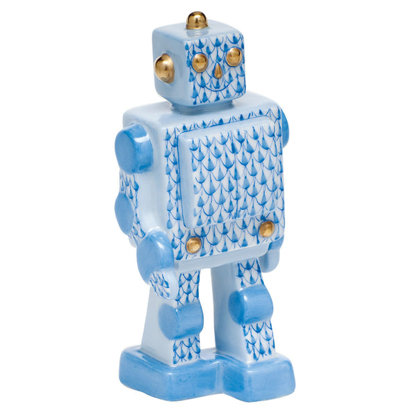 Herend Toy Robot, Blue