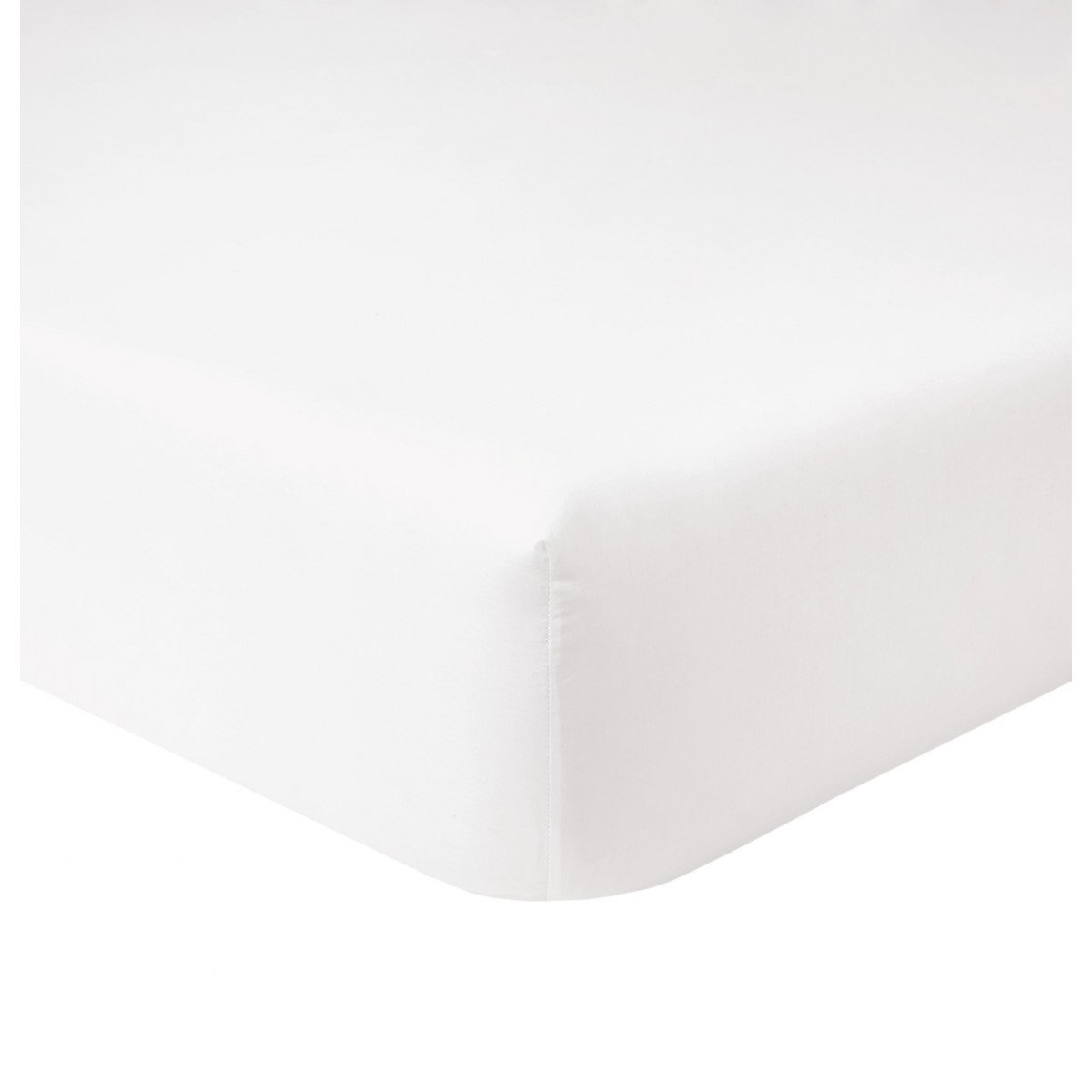 Yves Delorme Triomphe Fitted Sheet, Blanc