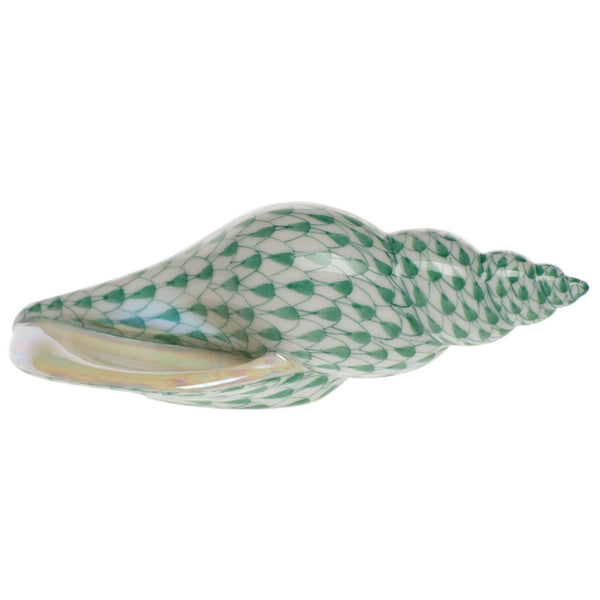 Herend Tulip Shell, Green