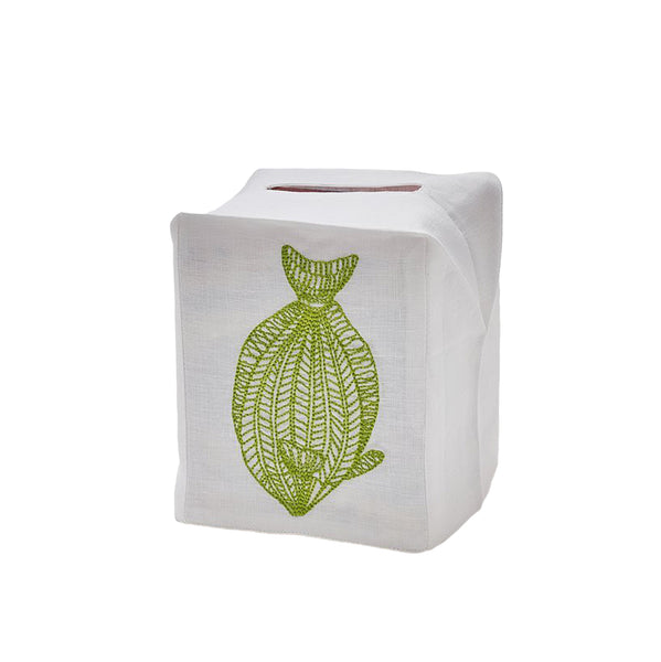 Tuna Tissue Box Cover, Green