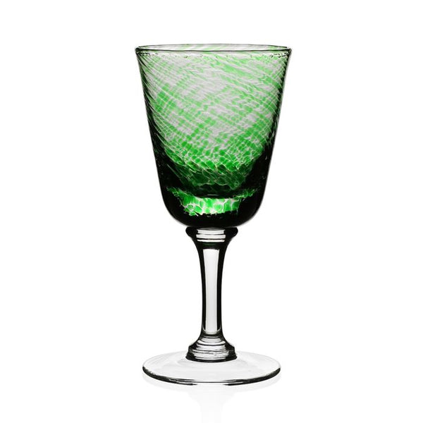 Vanessa Wine Glass, Green
